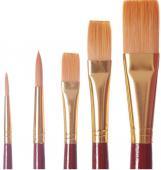Pochette 2 pinceaux + 3 brosses Wingo qualité artiste