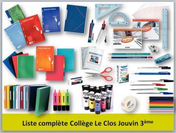Liste complète 3ème collège Le Clos Jouvin
