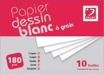 POCH DB A GRAIN 180G A3 10F DESSIN BLANC